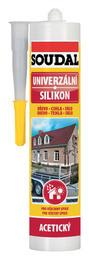 SOUDAL univerzální silikon šedý 300ml (12) - stavební chemie