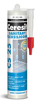 CERESIT CS25 sanitární silikon 280ml jasmine