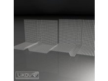 LIKOV LBP-U1 roh bosážní tkaninový vnější (10) 197.03 lišty / profily / pásky
