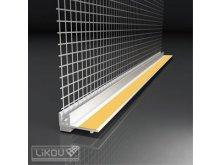 LIKOV profil okenní LS-VH začišťovací  6mm s tkaninou / 1,4m Termospoj (30) 151.14.99 lišty / profily / pásky