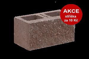 KB-BLOK  1-21 B tvarovka hnědá (60) jednostranně štípaná dělitelná - betonové výrobky