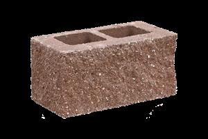 KB-BLOK  9-21 B tvarovka hnědá (60) třístranně štípaná sloupová - betonové výrobky