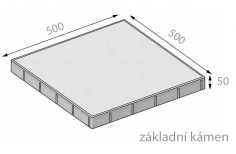 CSB FORMELA III 50x500x500mm dlažba hladká přírodní (40) - cs beton