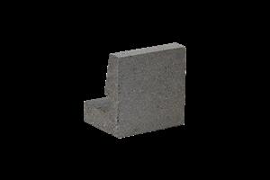 KB-BLOK 201-20 A věncovka přírodní (192) hladká půlená - betonové výrobky