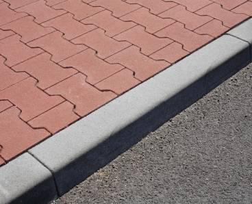 BEST MONO nájezdový 150x150x1000mm obrubník přírodní (25) - betonové výrobky