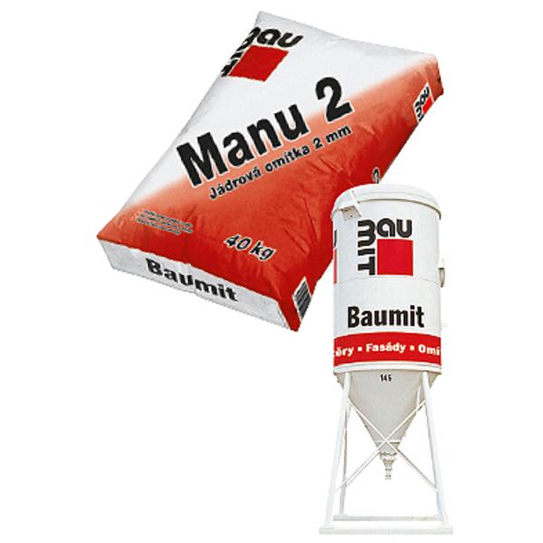 BAUMIT Manu2 (GrobPutz jádrová omítka 2mm) 25kg (54)