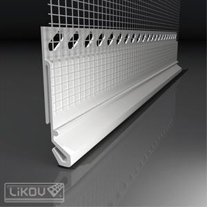 LIKOV LX-45/2m - ukončovací profil pro napojení oplechování (25) 125.20