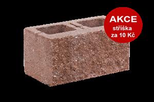 KB-BLOK  1-21 B tvarovka červená (60) jednostranně štípaná dělitelná - betonové výrobky