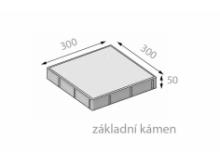 CSB FORMELA I 50x300x300mm dlažba hladká přírodní (112) cs beton
