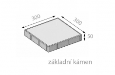 CSB FORMELA I 50x300x300mm dlažba hladká přírodní (112) - cs beton