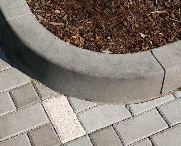 BEST MONO II R1 vnější obrubník přírodní (15) - betonové výrobky