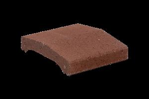 KB-BLOK ps-20 A 250 plotová stříška červená (64) - betonové výrobky