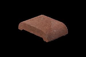 KB-BLOK ps-20 kulatá 200 plotová stříška červená (92) - betonové výrobky