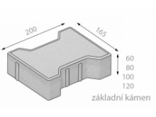 CSB KOST  8cm dlažba přírodní (9,072m2) cs beton
