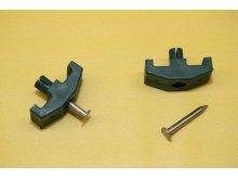 RETIC příchytka NYLOFOR 3D plast černá pletivo / sloupky / doplňky