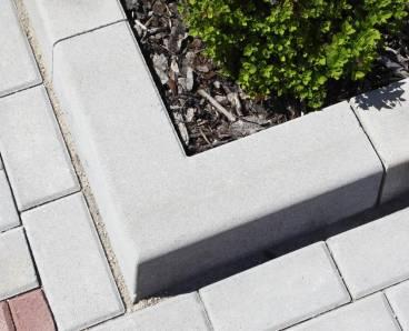 BEST MONO II rohový 90 vnější obrubník přírodní (36) - betonové výrobky