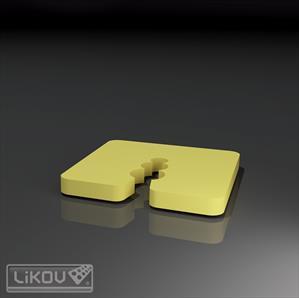 LIKOV podložka vymezovací 10mm černá (50) 280.10
