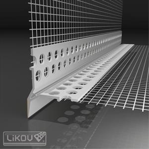 LIKOV profil okenní VLTU plast 2,0m s přiznanou okapnicí (25)  141.301 / 147.20 - lišty / profily / pásky