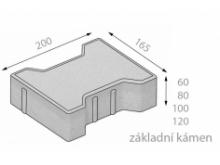 CSB KOST  8cm dlažba okrová (8,40m2) cs beton