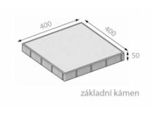 CSB FORMELA II 50x400x400mm dlažba hladká přírodní (84) cs beton