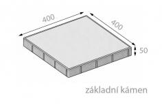 CSB FORMELA II 50x400x400mm dlažba hladká přírodní (84) - cs beton